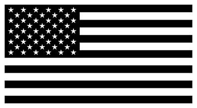American Flag - Black And White Version Art Print by War Is Hell Store