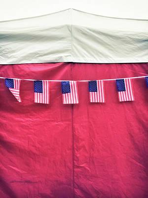 American Flag Bunting Art Print
