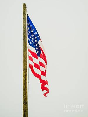 American Flag - C Art Print by Debra Martz