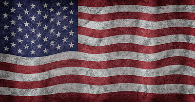 Photograph - American Flag by Chevy Fleet