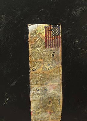 Mixed Media - American Flag by Christina Knapp