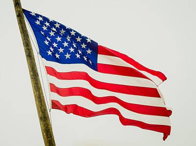American Flag - Proudly It Waves Art Print by Debra Martz