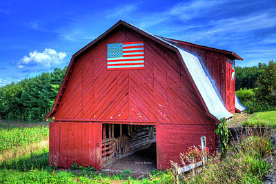 Photograph - American Flag by Dale R Carlson