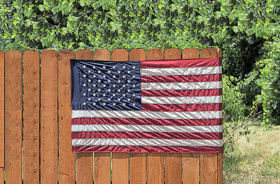 Photograph - American Flag by Don Wolf