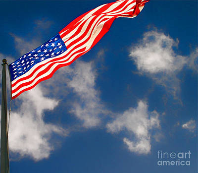 Photograph - American Flag by Louise Fahy