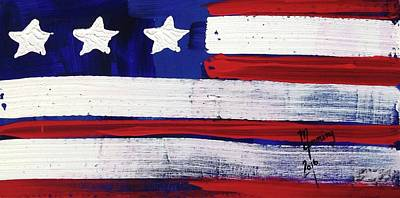 Painting - American Flag Fl-02-fc-16 by Richard Sean Manning