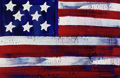 Painting - American Flag Fl-04-fc-16 by Richard Sean Manning