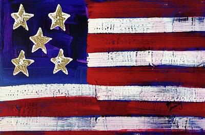 Painting - American Flag Fl-05-fc-16 by Richard Sean Manning