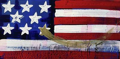 Painting - American Flag Fl-09-fc-16 by Richard Sean Manning