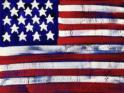 Painting - American Flag Fl-11-fc-16 by Richard Sean Manning