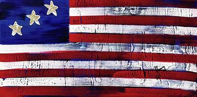 Painting - American Flag Fl-13-fc-16 by Richard Sean Manning