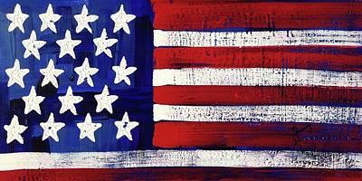 Painting - American Flag Fl-15-fc-16 by Richard Sean Manning