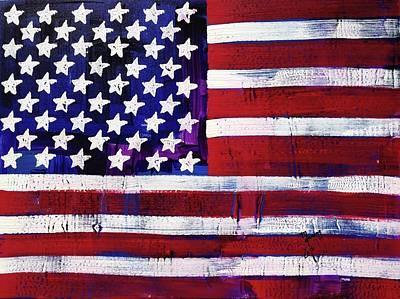 Painting - American Flag Fl 19-fc-16 by Richard Sean Manning