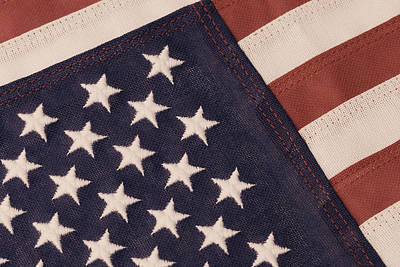 Photograph - American Flag In Antique Tones by Jill Lang