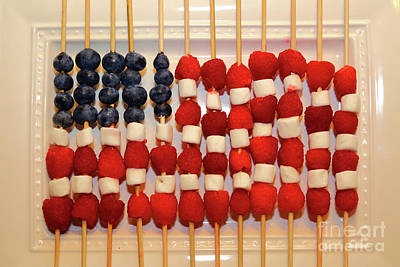 Photograph - American Flag In Summer Fruits by James Brunker