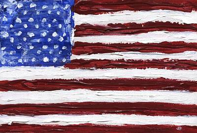 Painting - American Flag by Jamie Frier