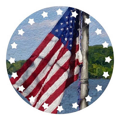 Painting - Proud To Be An American by Joan Reese