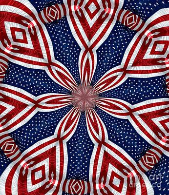 Photograph - American Flag Kaleidoscope Abstract 1 by Rose Santuci-Sofranko
