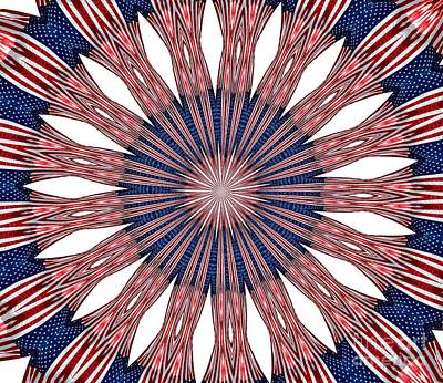Red White And Blue Photograph - American Flag Kaleidoscope Abstract 5 by Rose Santuci-Sofranko