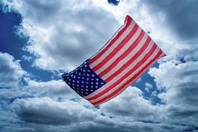 Photograph - American Flag Kite by Mick Anderson