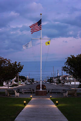 Photograph - American Flag Lavallette Nj by Terry DeLuco