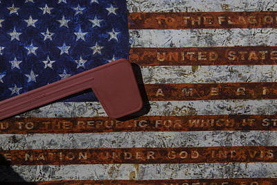 Mail Box Photograph - American Flag Mail Box by Garry Gay