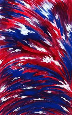 Abstract American Flag Painting - American Flag by Michael Vigliotti