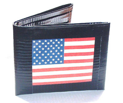 American Flag Duct Tape Wallet Mixed Media - American Flag by Sasha LeChat