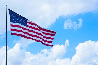Fluttering Photograph - American Flag  by Art Spectrum