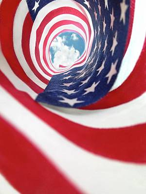 Photograph - American Flag Swirl by Lorella Schoales
