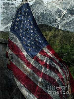 Photograph - American Flag by Tony Baca