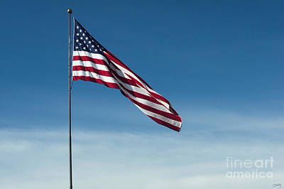 Photograph - American Flag Waving by Imagery by Charly