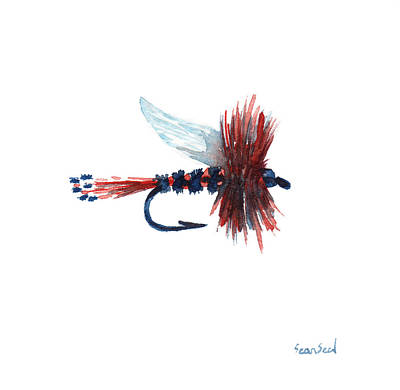 American Fly Art Print by Sean Seal