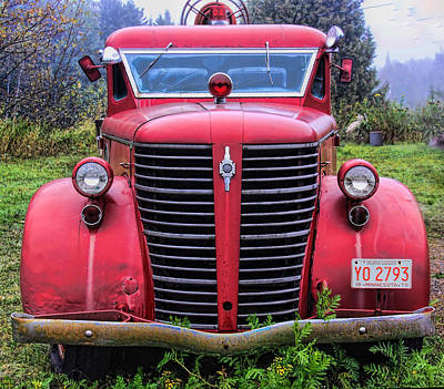 World War 2 Action Photography Royalty Free Images - American Foamite Firetruck1 Royalty-Free Image by Susan Buscho
