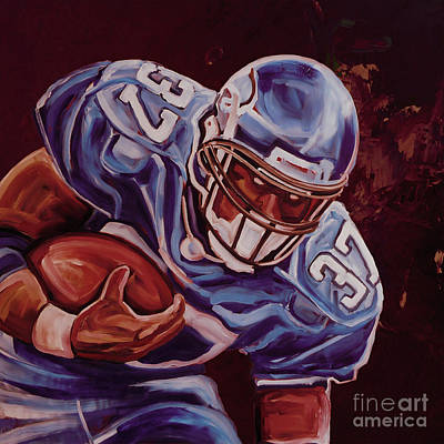 Heisman Painting - American Football 00054 by Gull G