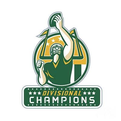 American Football Division Champions Retro Art Print