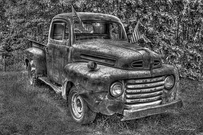 Photograph - American Ford Classic 1950 Ford F1 Pickup Truck by Reid Callaway