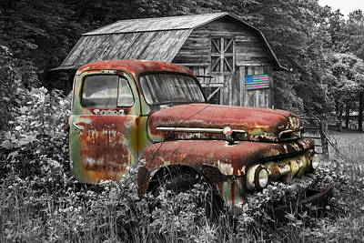 Photograph - American Ford Pickup Truck by Debra and Dave Vanderlaan