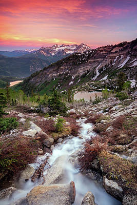 Photograph - American Fork Canyon Sunset by Johnny Adolphson