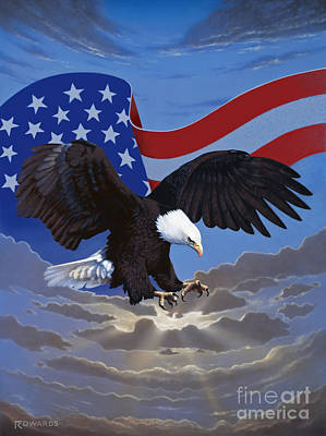 American Freedom Art Print by Ross Edwards