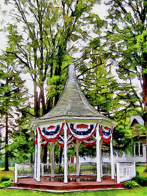 Digital Art - American Gazebo by Leslie Montgomery