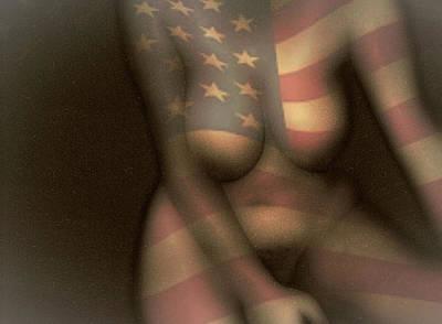 Digital Art - American Girl by James Barnes