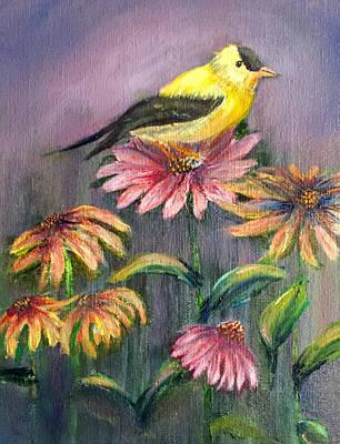 American Goldfinch Original by Richard Smith