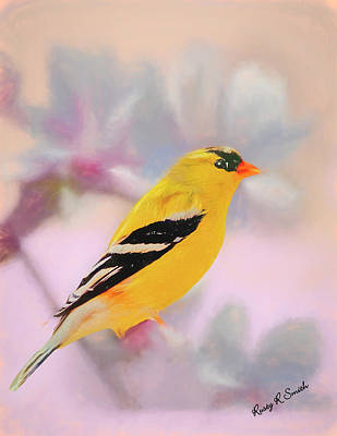 Digital Art - American Goldfinch. by Rusty R Smith