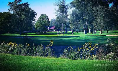 Frank J Casella Royalty-Free and Rights-Managed Images - American Golf Course  by Frank J Casella