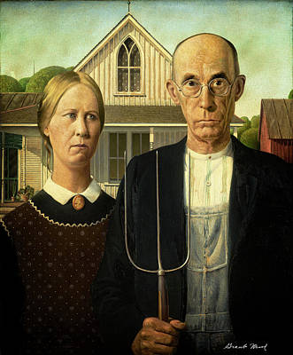 Photograph - American Gothic House by Grant Wood