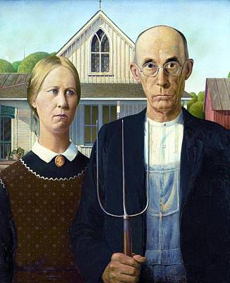 Pd Painting - American Gothic by Pg Reproductions