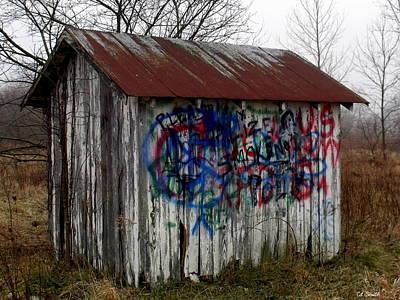 American Graffiti 4   Zig Zag Man Art Print by Ed Smith