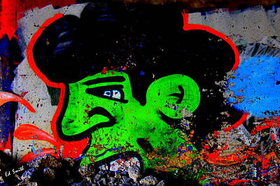 American Graffiti 9 Mean Mr Green Print by Ed Smith
