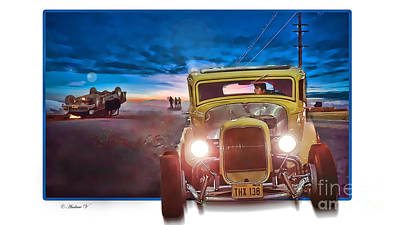 American Graffiti Paradise Road Art Print by CoolnessSixtyEightArt